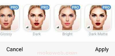 Female makeup camera