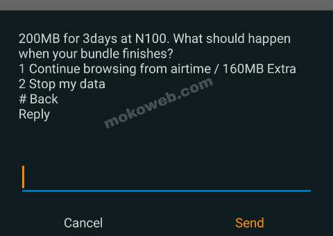 Airtel N100 for 200mb