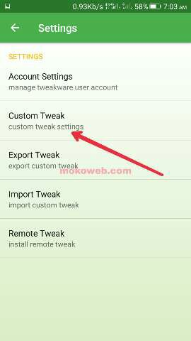 Custom tweaks