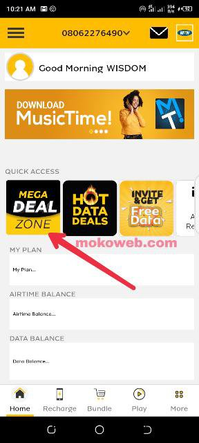 Dealzone MyMTN app