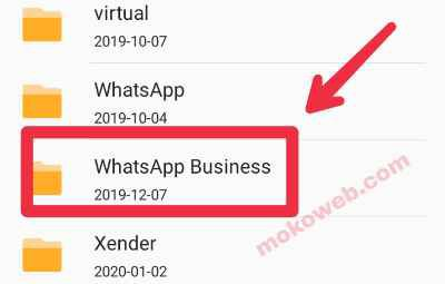 Whatsapp business folder