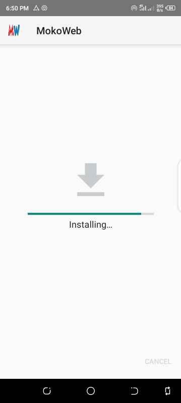 Installing mokoweb app