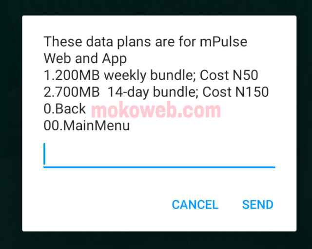 MTN MPulse 200mb for N50 750mb for n150