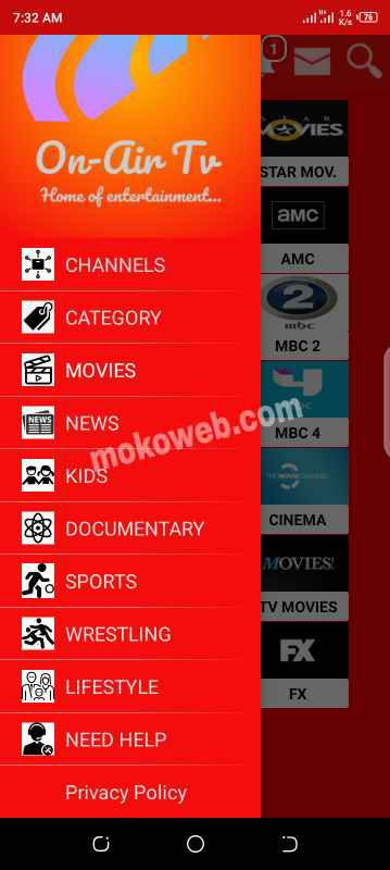 Channel categories
