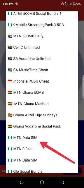 MTN Data Sim cheat
