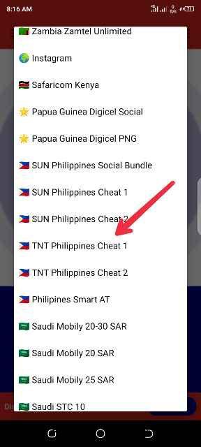 TNT Philippines cheat