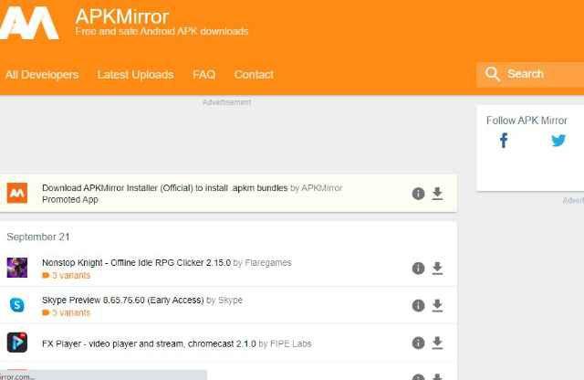 Apkmirror website