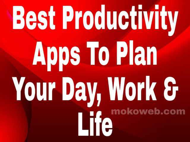 Productivity apps to organize your day