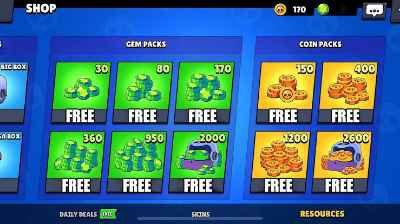 How to get free gems on brawl Stars