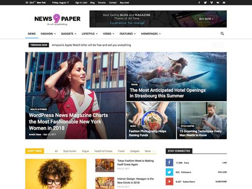 wordpress magazine theme newspaper