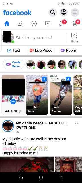 Facebook lite interface