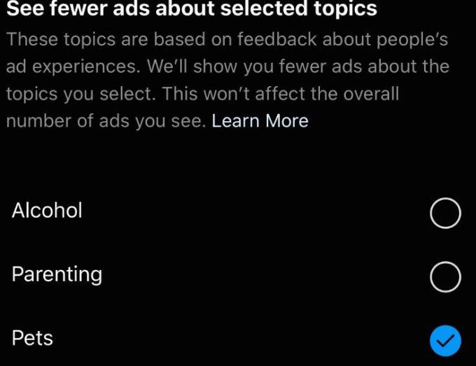 ads topics