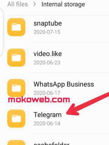 Telegram folder on Android