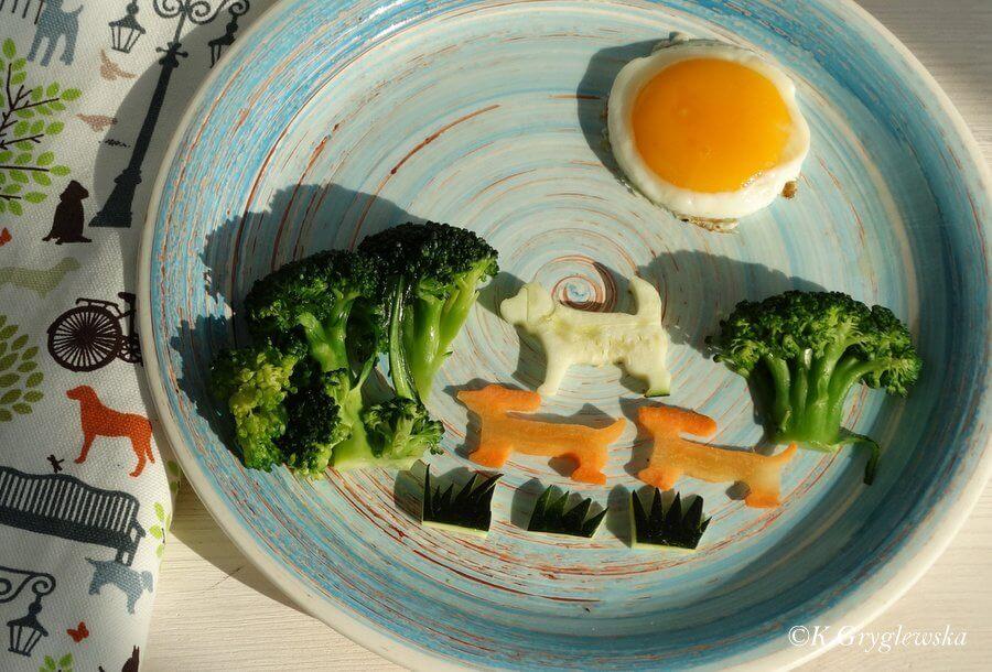 Brokul w diecie psa - obraz z warzyw