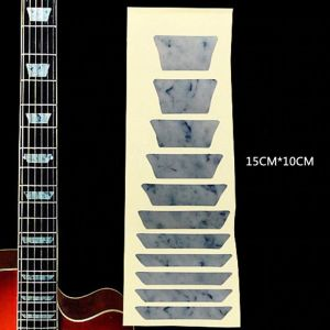Fretboard inlay fret marker decal sticker curved blocks swirled white