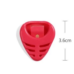 Guitar pick plectrum plastic holder red