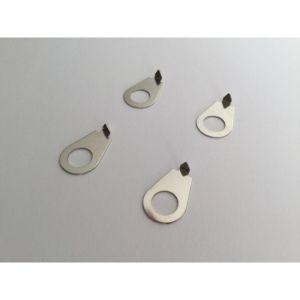 (4) Volume tone knob position pointers chrome