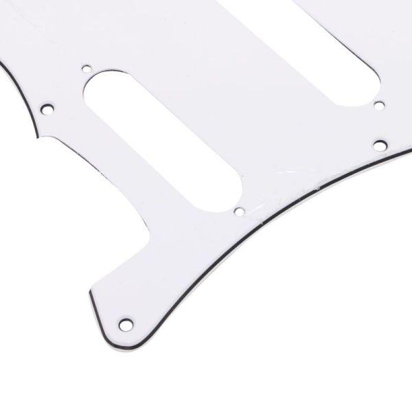 3ply stratocaster white SSS standard pickguard