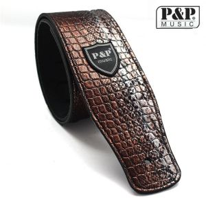 P&P Red-brown crocodile leather strap