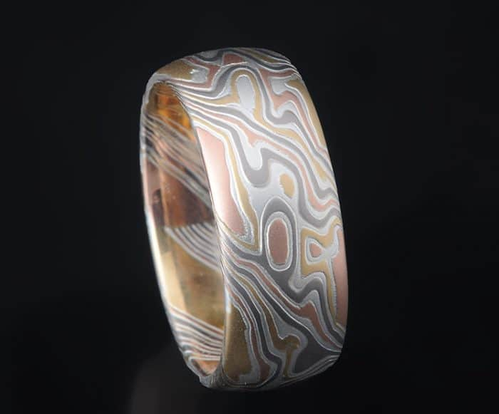 multi gold wedding ring