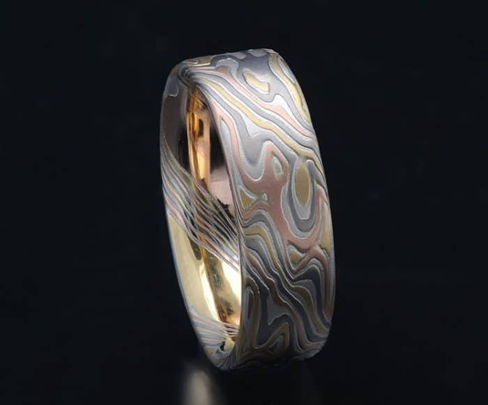 unique flat wedding band