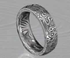 STAINLESS STEEL-DARKENED WEDDING RING