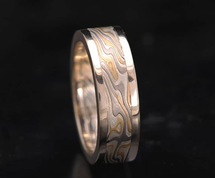 unique flat mokume ring