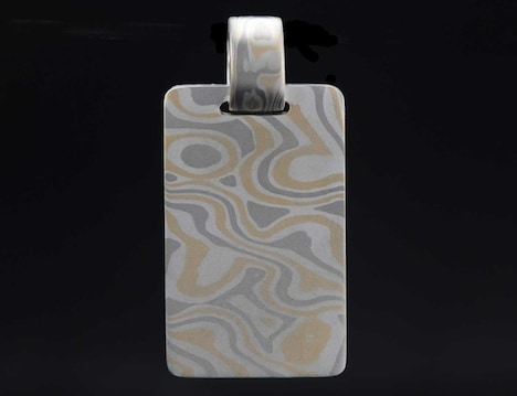 mens gold dog tag