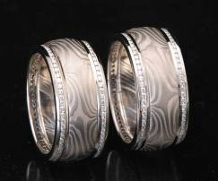 platinum diamond wedding set