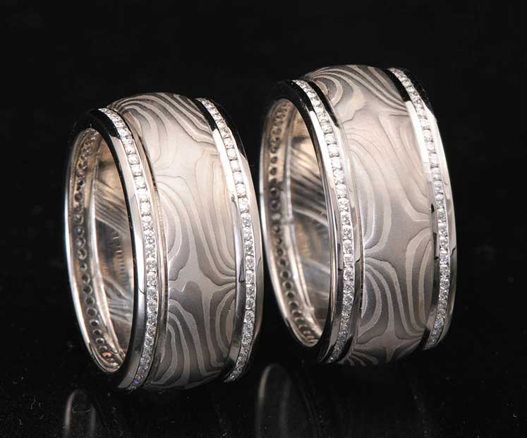 matching platinum and diamond wedding rings