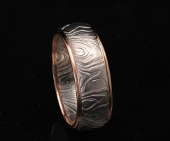 unique damascus wedding ring