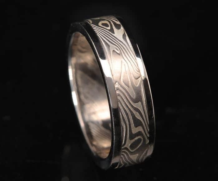 Men's flat palladium wedding ring