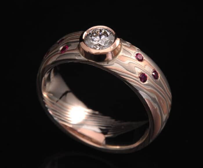 diamond rubies engagement ring