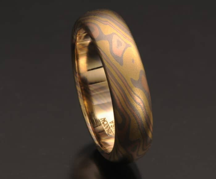 all gold mokume ring