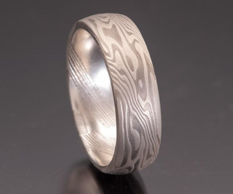 Shibuichi wedding ring 7mm