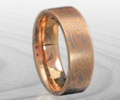 all gold mokume band
