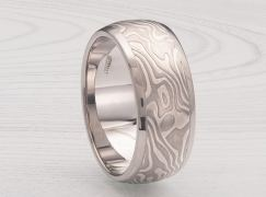 MENS WIDE MOKUME CHANNEL RING