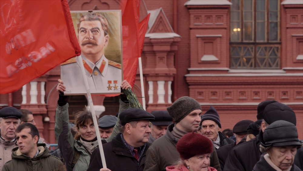 De rode-ziel - Rode Plein en portret Stalin