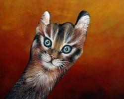Рисунки животных на руках - Слайдшоу