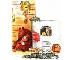 Диафильм на сказку - Как аист на ёлку опоздал