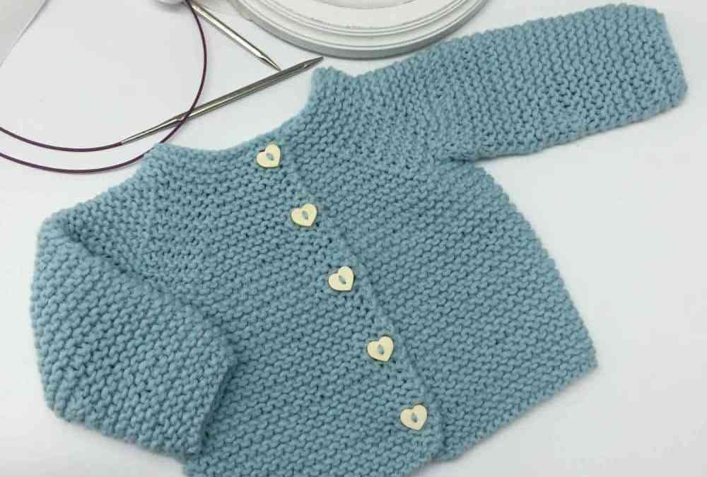 Patrón y tutorial de chaqueta de punto para bebé paso a paso, chaqueta duende 2017