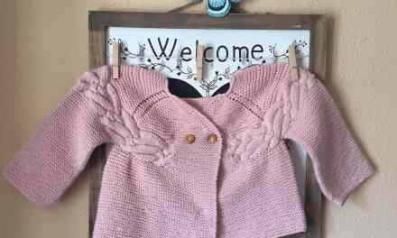 Chaqueta de tricot para bebé, patrón chaqueta trenza.