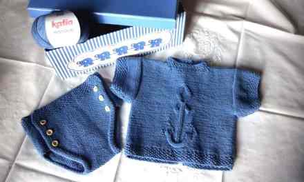 Jersey bebé DIY Patrón de conjunto Ancla.