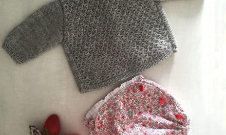 DIY Jersey de bebe a tricot y tutorial de como hacer punto anémona.