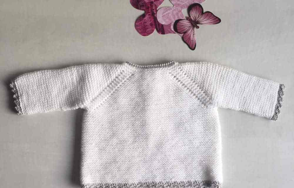 734a45346 Jersey de tricot con ganchillo para bebé en varias tallas Ropa DIY.