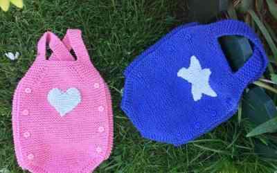Pelele bebé, 2 patrónes DIY