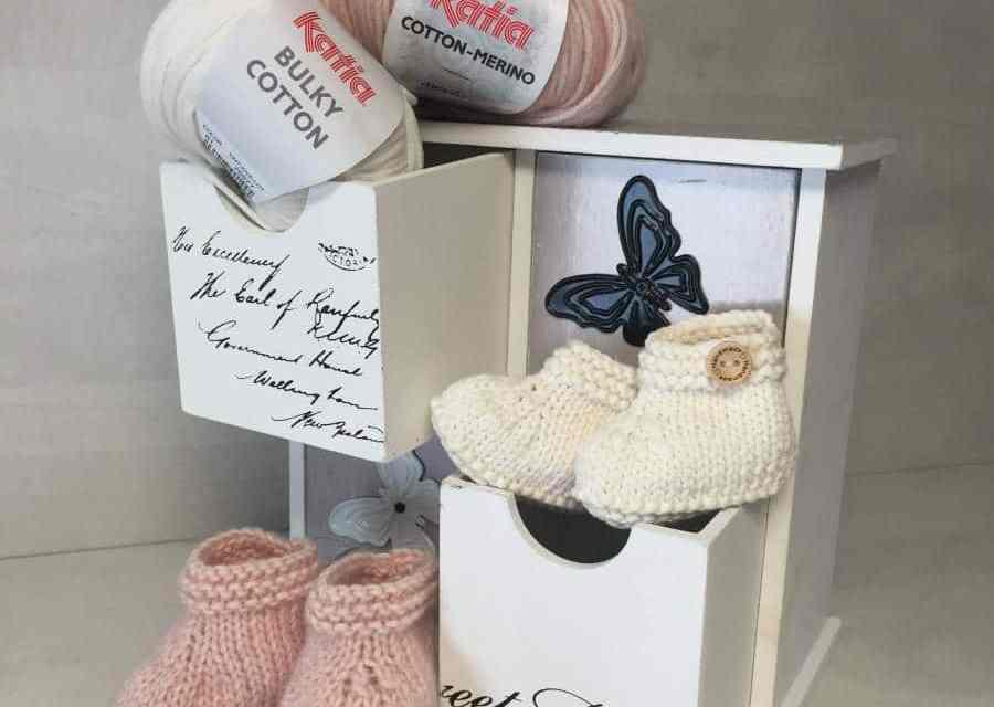 Como hacer patucos de bebe paso a paso y patrón- Molan Mis Calcetas