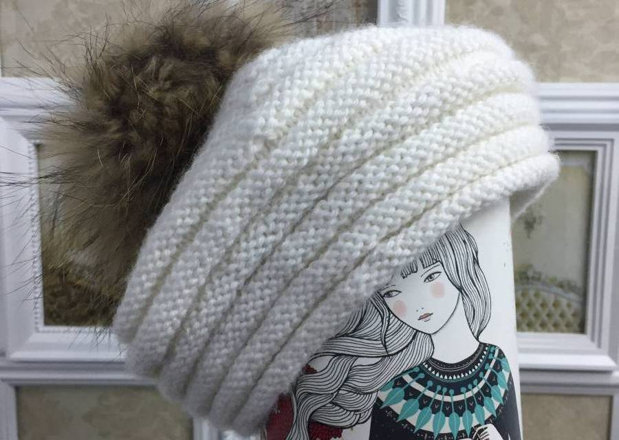 Patrón de gorro de lana o Boina paso a paso - Molan Mis Calcetas