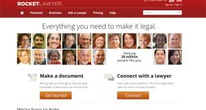 Screenshot of rocketlawyer.com