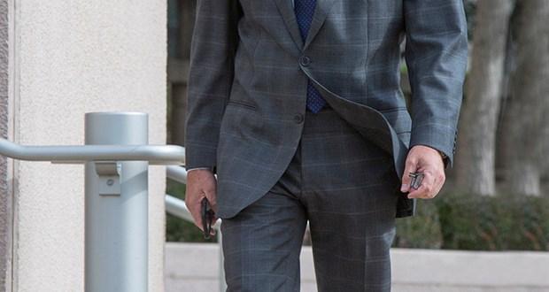 Attorney Scott Rosenblum walks into the Thomas Eagleton courthouse in this file photo.  Photo by KAREN ELSHOUT